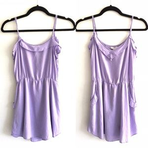 ARITZIA Talula Mini Slip Dress Lilac XS